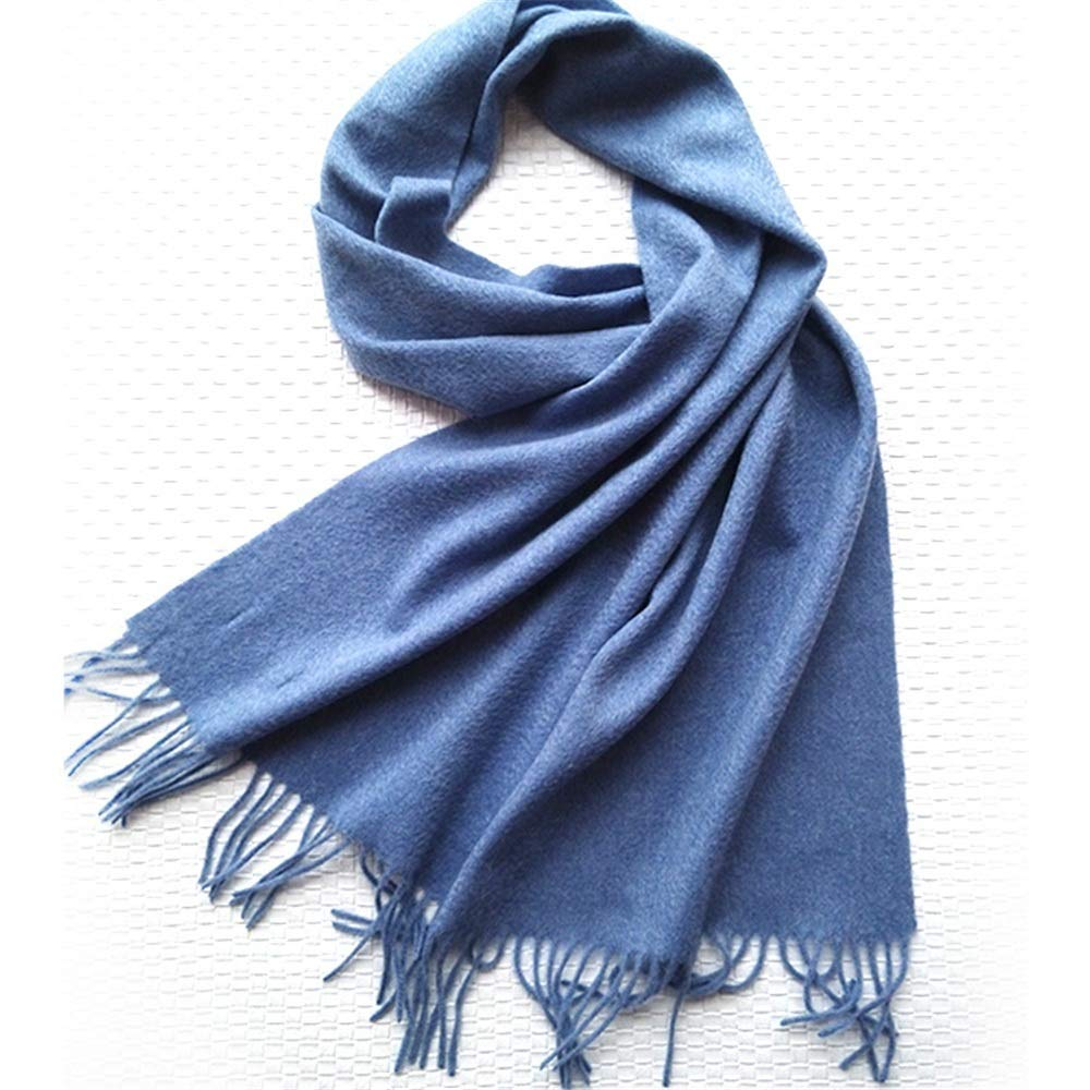 bluee Autumn and Winter Solid color Scarf Ladies Variety MultiPurpose Student Warm Scarf (color   Brown)