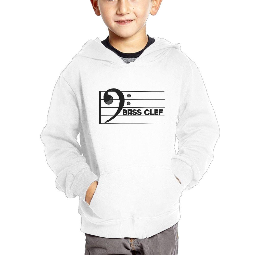 Small Hoodie Bass Clef Boys Soft Pocket Hoodie