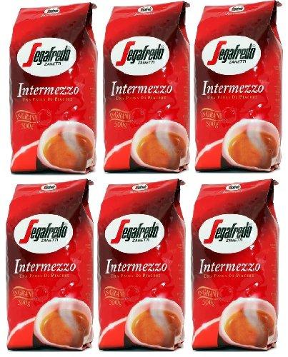 6x 1000g Segafredo Intermezzo Kaffee Espresso Bohnen f. Vollautomaten
