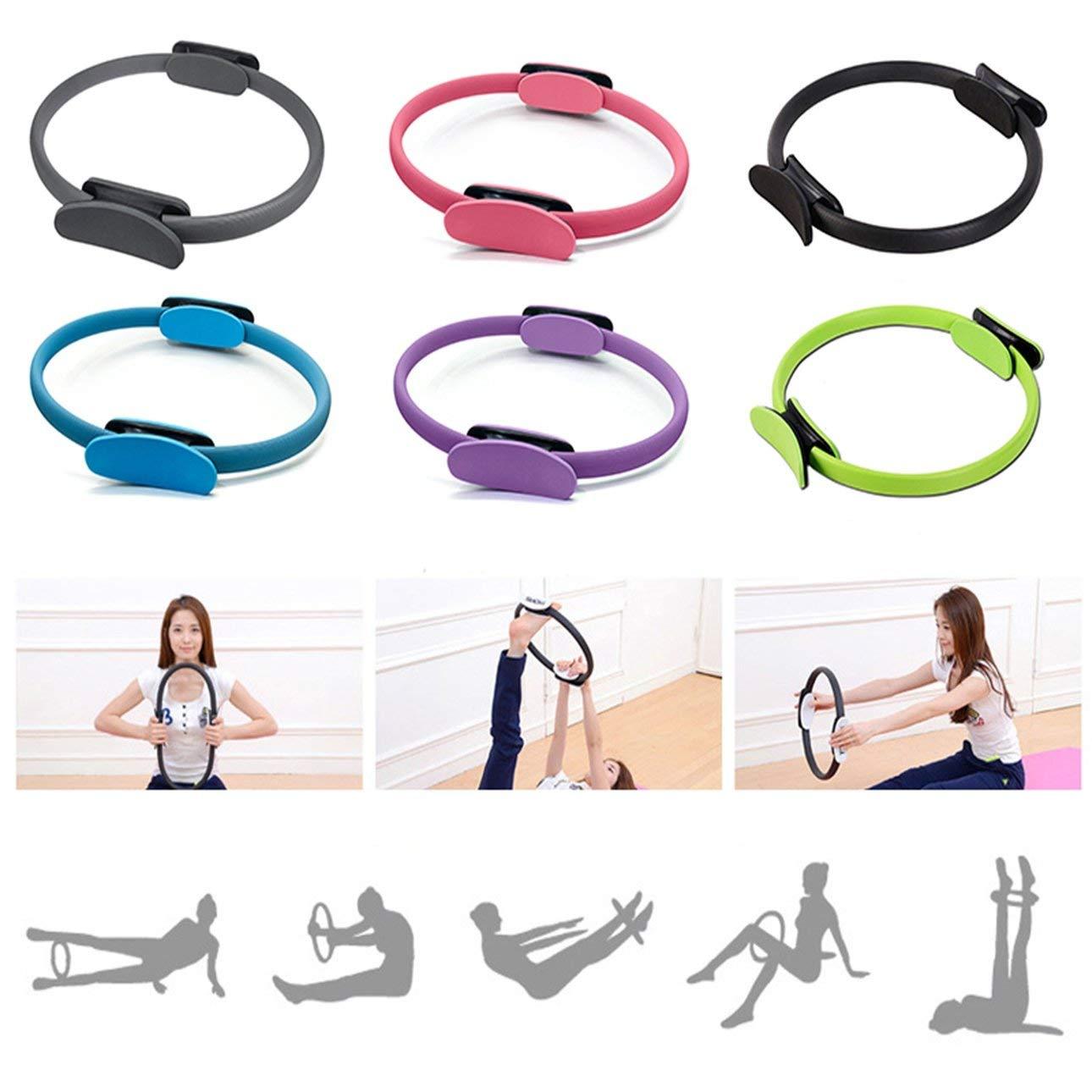 Ballylelly Anello di Resistenza allo Yoga Portatile 38CM Attrezzo di addestramento dellanello di Yoga dellanello di Yoga di Resistenza delle Gambe delle Gambe del Cerchio Magico Leggero