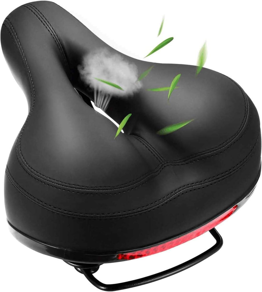 HNXCBH Bike seat Soft Wide Bicycle Saddle Comfortable Bike Seat Vintage Bicycle PU Saddle Pad Waterproof Cycling Parts Accessories