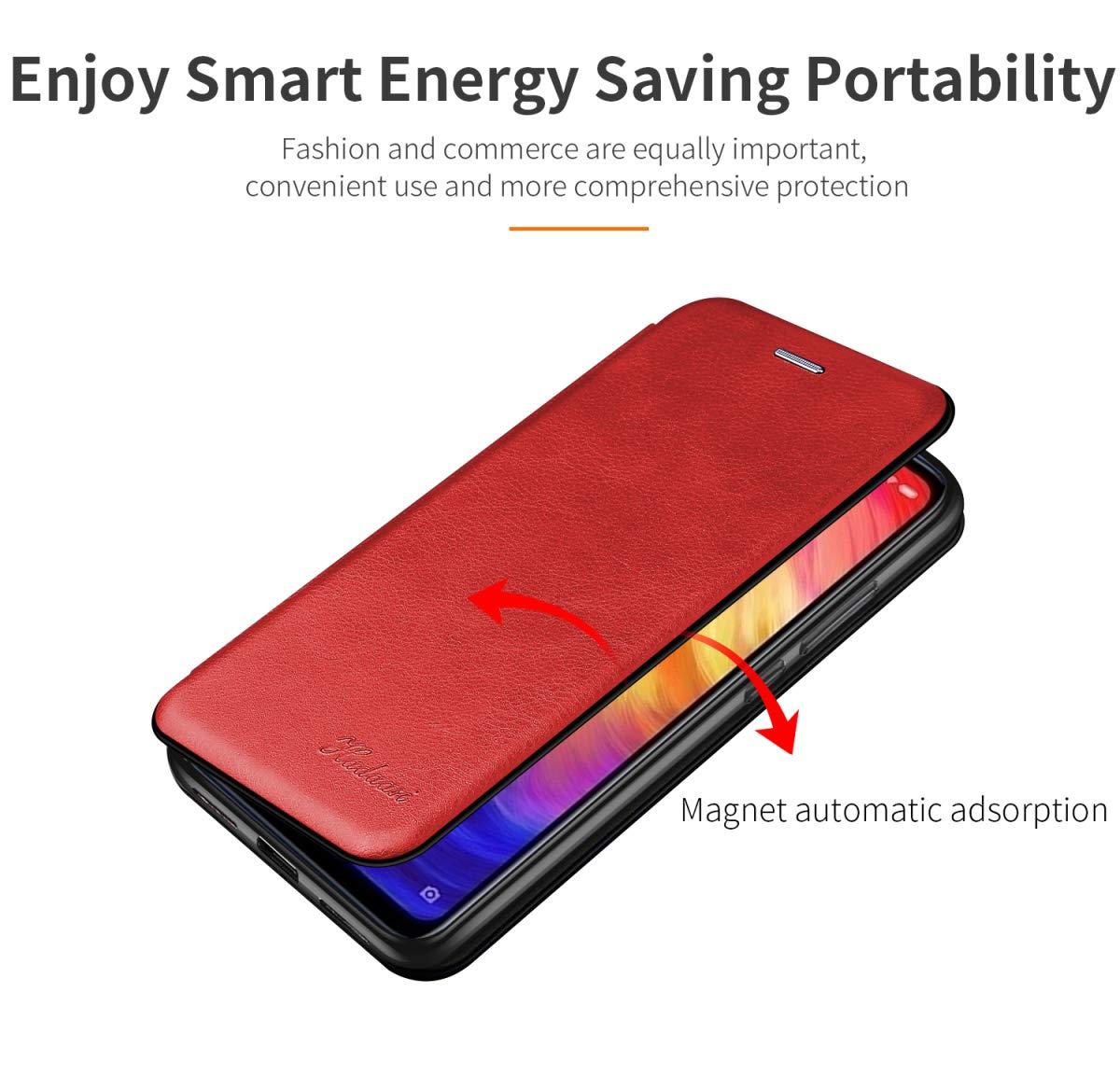 Suhctup Tasche Kompatibel f/ür Samsung Galaxy A10//M10 H/ülle Au/ßenseite aus Echt Leder Innenseite aus Textil Magnet Schutz Case St/änder mit Ultra Slim Cover Bookstyle Klappbar