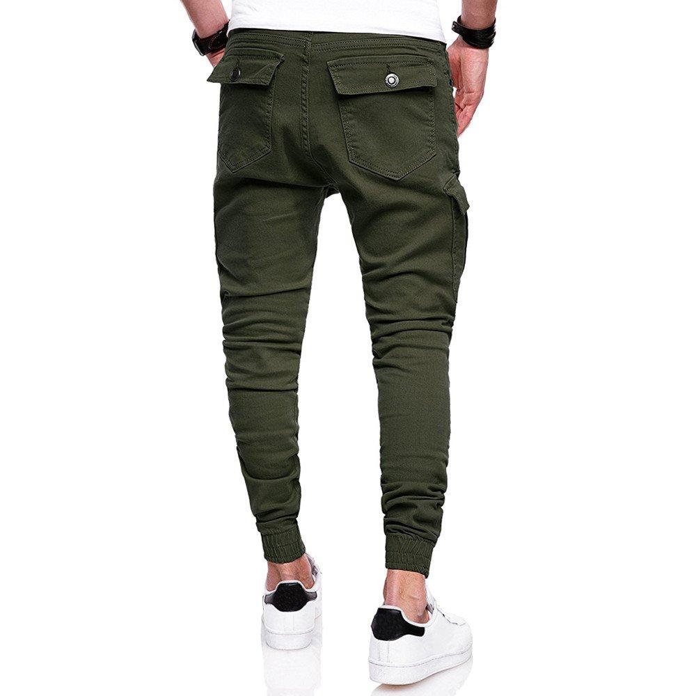 Spbamboo Mens Pants Sport Camouflage Pockets Casual Loose Drawstring Sweatpants by Spbamboo (Image #2)