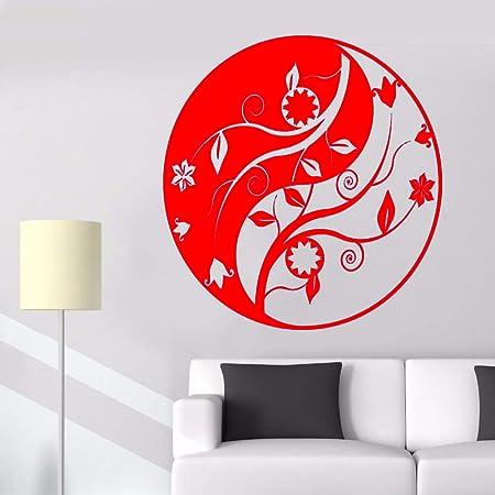 guijiumai Vinilo Tatuajes de Pared Yin Yang Mandala Zen Lotus Sala ...