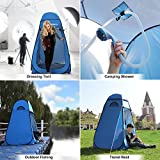 SONGMICS-Portable-Pop-up-Tent-Dressing-Room-Privacy-Shelter-for-Outdoor-Camping-Fishing-Beach-Shower-Toilet-with-Zippered-Carrying-Bag-Blue-UGPT01BU