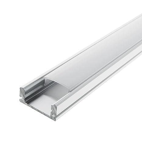 LED Streifen und LED Flexb/änder inkl LED Aluminium Profil PL 8 subra LED Profil 2m f Abdeckung Opal milchig