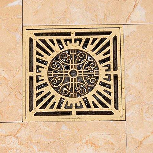 Floor drain/full copper antiquity and antiquity floor drain bathroom shower room, bathroom, bathroom, bathroom, bathroom, bathroom, bathroom, sewer, pure copper square floor drain,Bronze U type