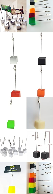 7 Stück 7 Farben Memo Clip Halter Ständer mit Alligator-Spange für ...