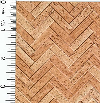 Amazon Dollhouse Miniature Large Faux Wood Parquet Flooring