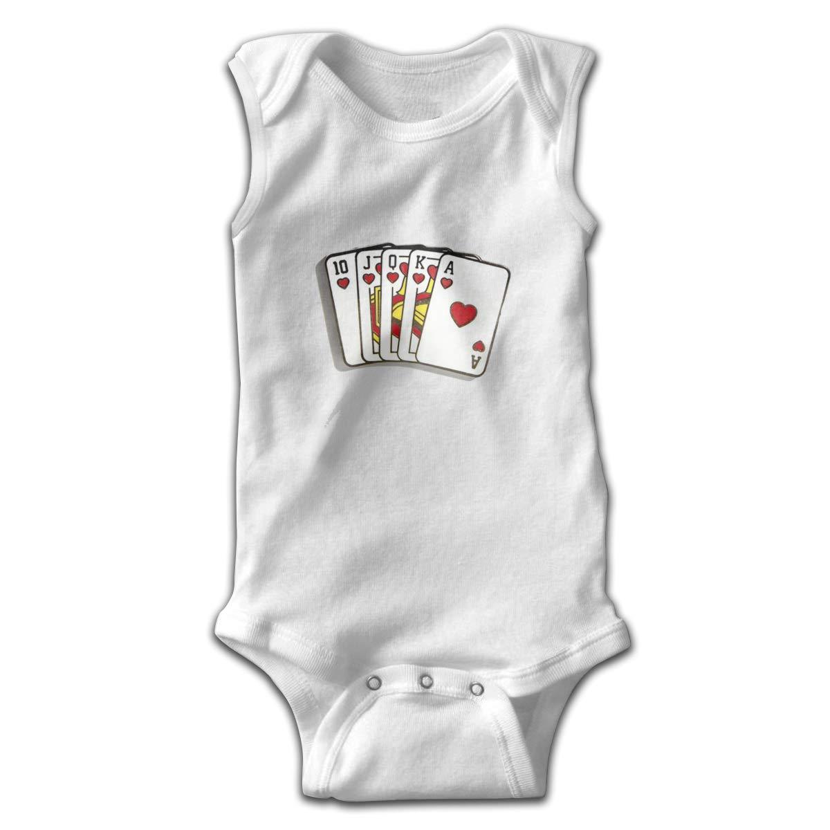 Royal Flush Newborn Baby No Sleeve Bodysuit Romper Infant Summer Clothing Black