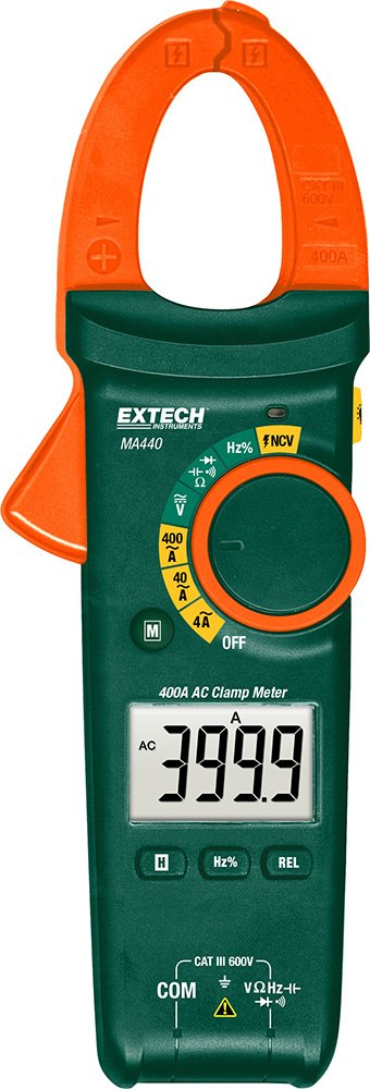 Extech MA440 True RMS 400A AC Clamp Meter with NCV by Extech