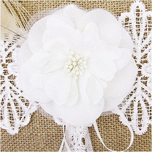soins Ring - TOOGOO(R) Linen feather Fleurs Anneau Oreillers 20*20cm