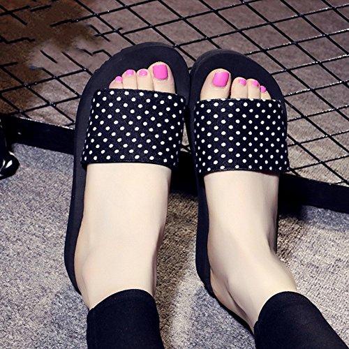 Mujeres Señoras Sandalias Zapatos de playa antideslizantes del ocio de los deslizadores de la parte inferior plana del verano para las mujeres (18-40 años) Cómodo ( Color : 1002 , Tamaño : 34 ) 1004