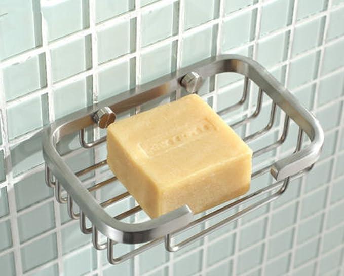 Amazon.com: deezio Deluxe sus-304 soporte platos de jabón ...