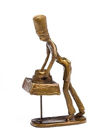 Skulptur Bäcker Koch Restaurant Küche Antik-Stil Bronze Figur ...