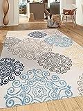 Modern Floral Swirl Design  Non-Slip (Non-Skid) Area Rug 8 x 10 (7′ 10″ x 10′) Cream Review