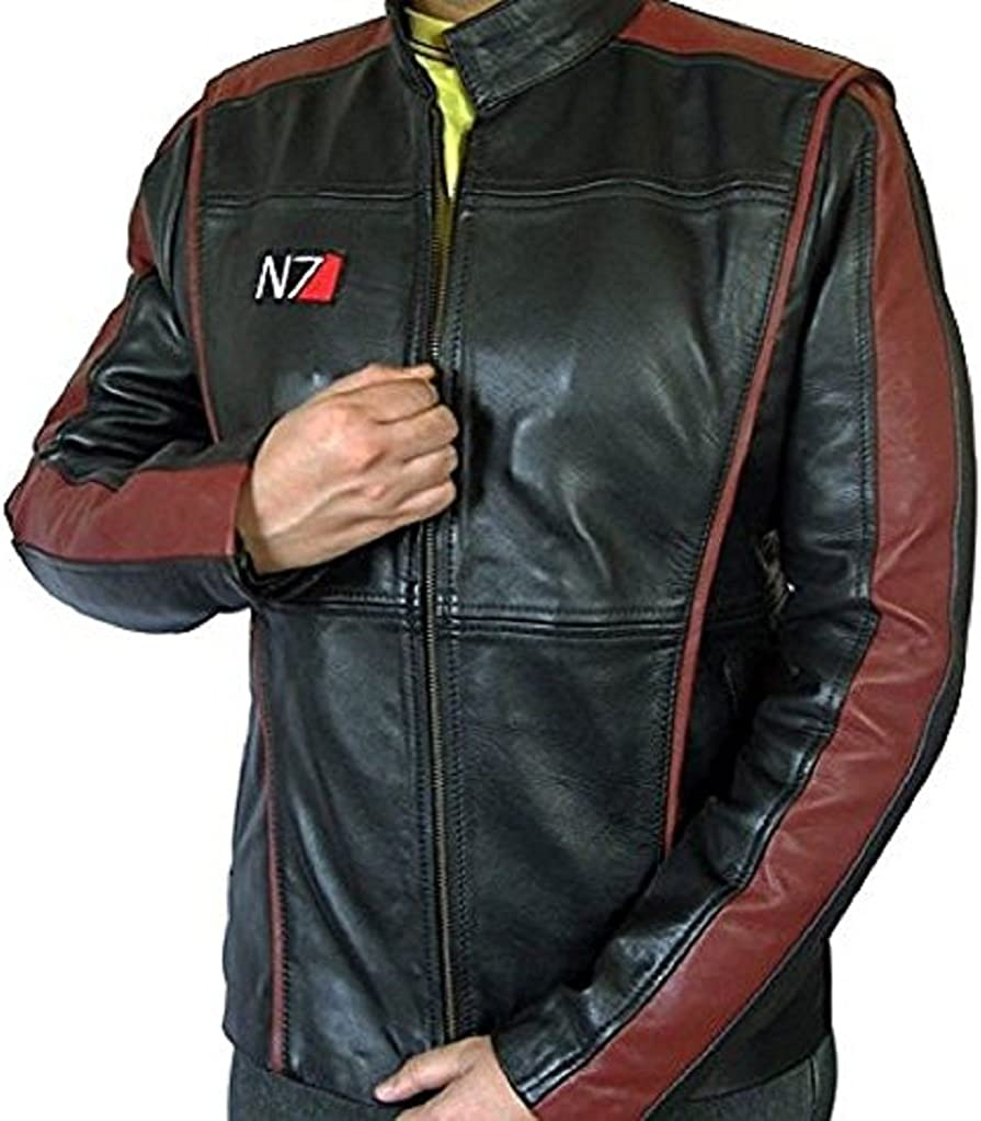 Mass Effect 3 N7 Game Real Leather Jacket