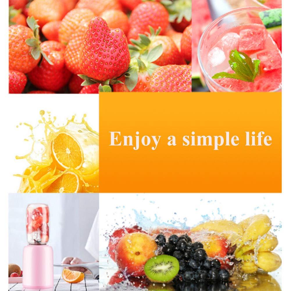 NJLC Mezclador de Frutas portátil, casa de Alta Costura Fruta y verdura multifunción Mini exprimidor eléctrico, Pink: Amazon.es