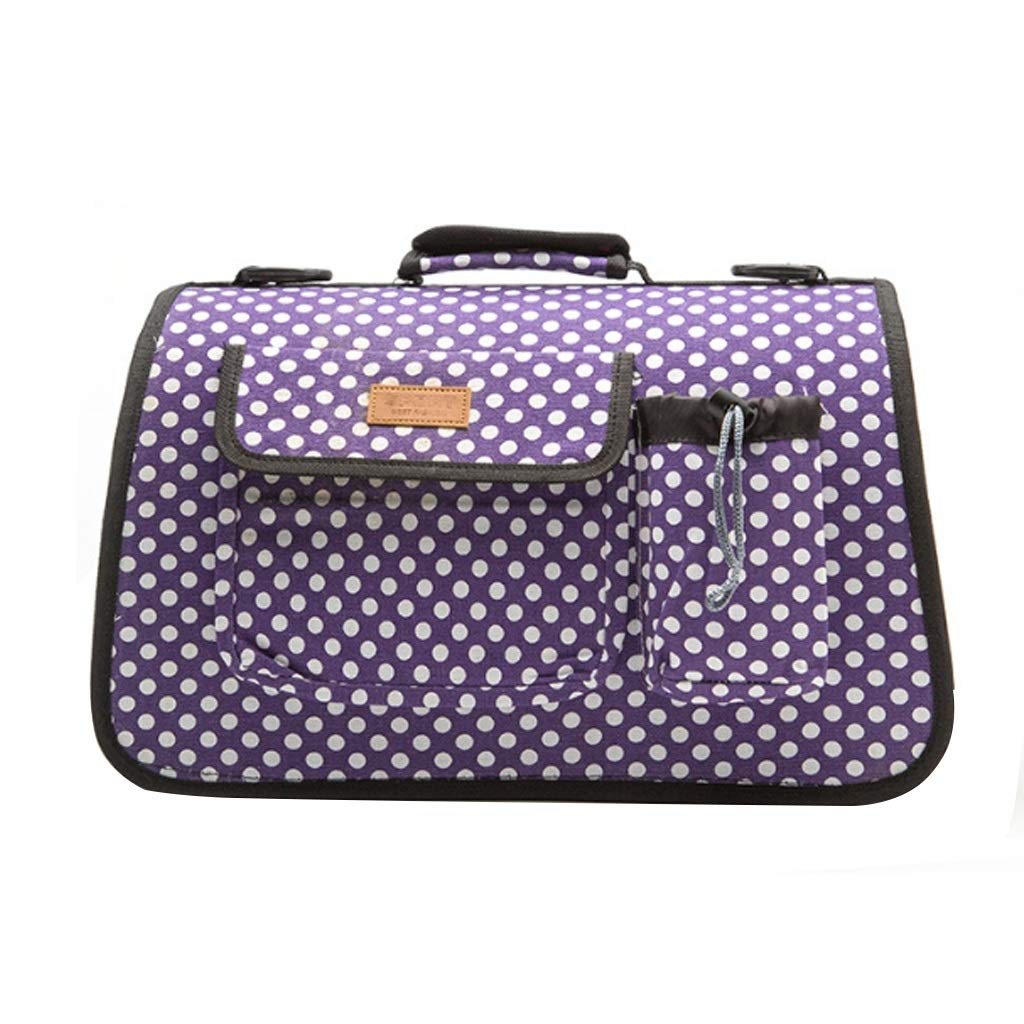 M Pet Supplies Small Dog Out Pack Portable Adjustable Tote Bag (Purple) 53  23  29cm (Size   M)