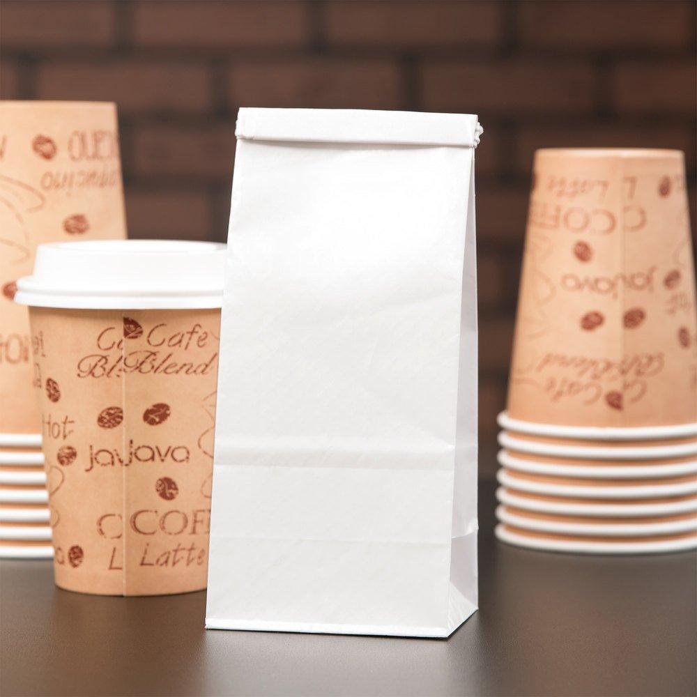 1 / 2 lb。ホワイトカスタマイズ可能な紙コーヒーバッグTin Tie Reclosable 1000 /ケース   B01J1X9N3Q
