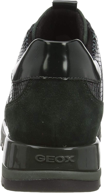 Geox Women's Low-Top Sneakers Green Dk Forest C3019
