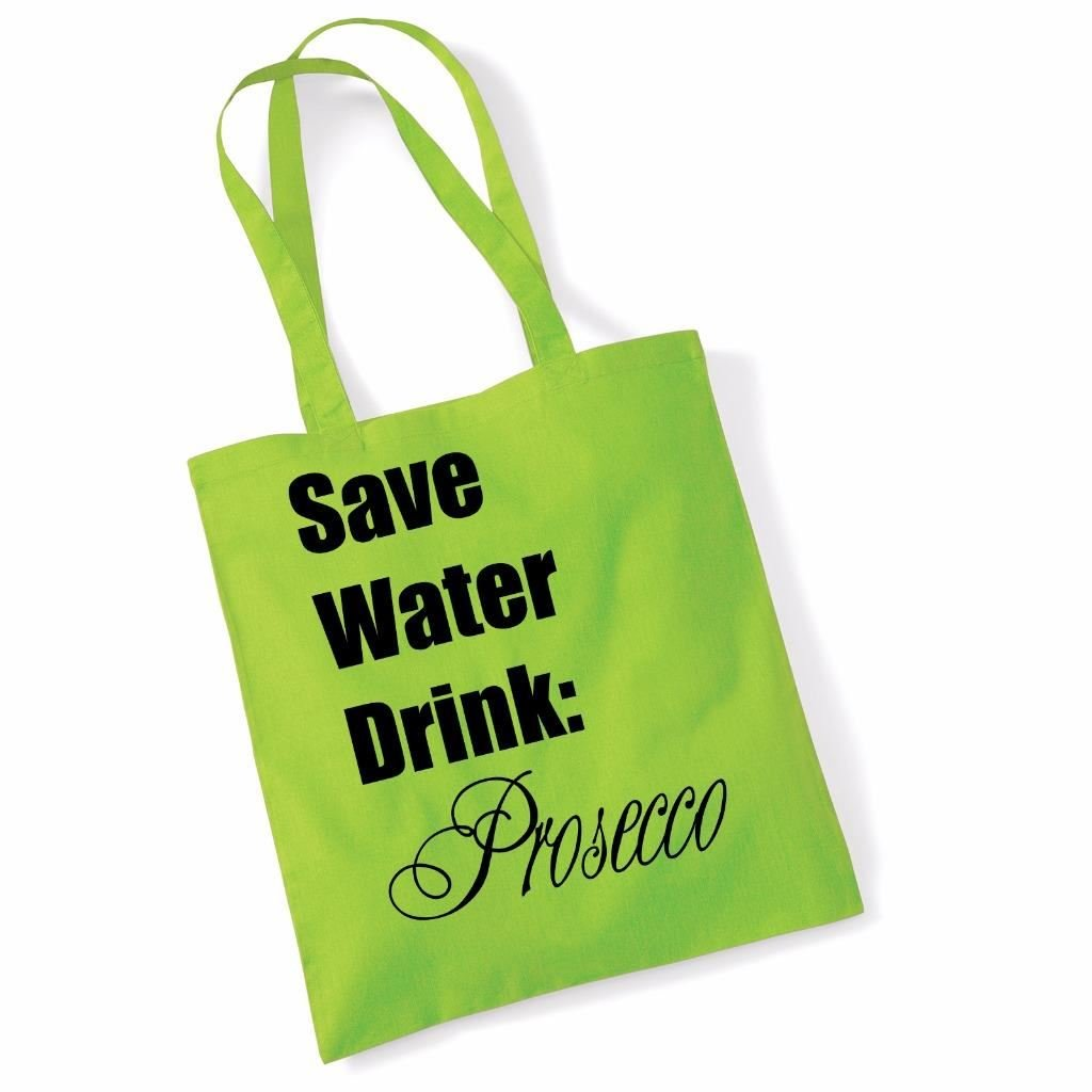 Reusable Oops Bought Prosecco Again Quote Handy Ladies Shopping Bag Beach Tote