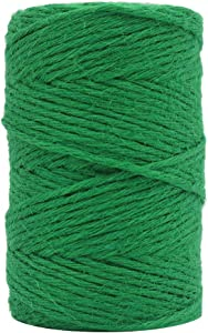 Vivifying 328 Feet 3mm Twine, Strong Jute Rope for Garden, Gifts, Crafts (Green)