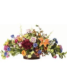 Amazon lilac dogwood tulip silk flower centerpiece home floral tapestry silk flower centerpiece mightylinksfo
