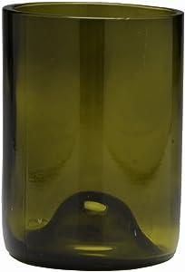 D&V Glass Vintage Collection, Short Beverage/Cocktail Glass, 12-Ounce, Olive Green, Set of 6
