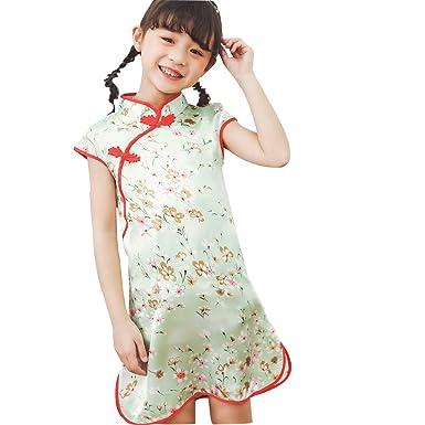 0877a1b88ac5d Amazon.com: Dirance @ Infantis Girls Chinese Style Print Cheongsam ...