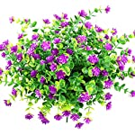 YOSICHY-Artificial-Flowers-Fake-Outdoor-UV-Resistant-Plants-Faux-Plastic-Greenery-Shrubs-for-Outside-Hanging-Planter-Home-Kitchen-Office-Wedding-Garden-DecorFushia