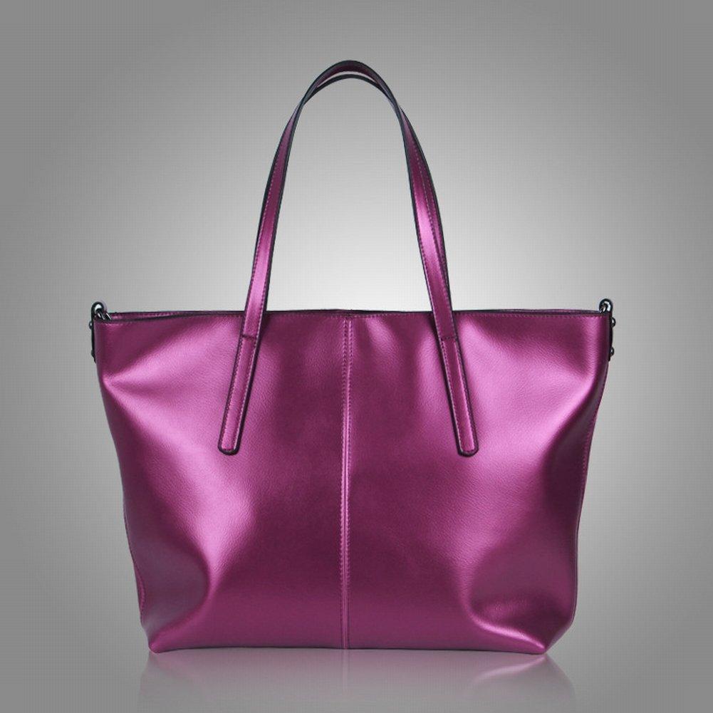 Wasser Weiches Leder Schulterdiagonale Handtasche , lila