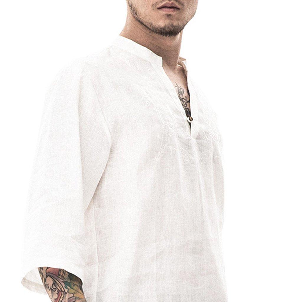 Kung Fu Smith Men's Vintage Dragon Bird Embroidered Polo T Shirt, White XL