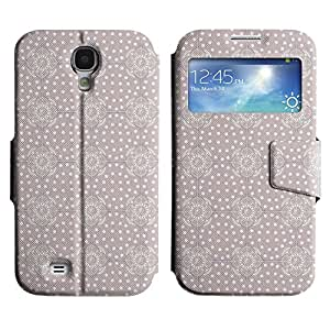 LEOCASE Modelo violeta Funda Carcasa Cuero Tapa Case Para Samsung Galaxy S4 I9500 No.1002871