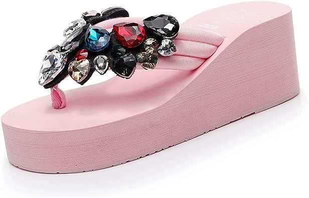 Luckycat Chanclas Mujer Verano,Verano Mujeres Zapatos Plataforma BañO Zapatillas CuñA Playa Slope Flops Zapatillas Zapatos