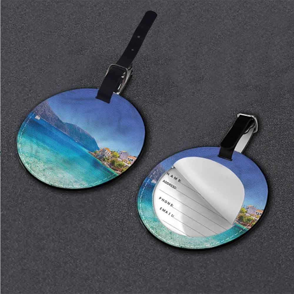 Luggage Tags European,Grand Canal in Venice Round Luggage Tags