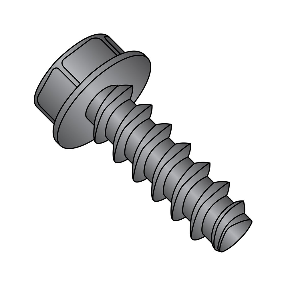 Steel Thread Rolling Screw for Plastic 3//4 Length Hex Washer Head Small Parts 0812LWB Pack of 50 Black Oxide Finish Pack of 50 #8-16 Thread Size 3//4 Length