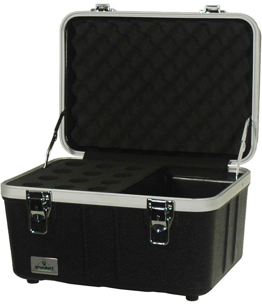 Grundorf Corporation ABS-MC12CB Hard-Shell Mic Case & Cables