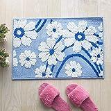PLLP Bathroom Mat, Floral Jacquard Mat, Kitchen Bedroom Carpet Bathroom Absorbent Mat Entry Door Entry Mat,B,4060CM