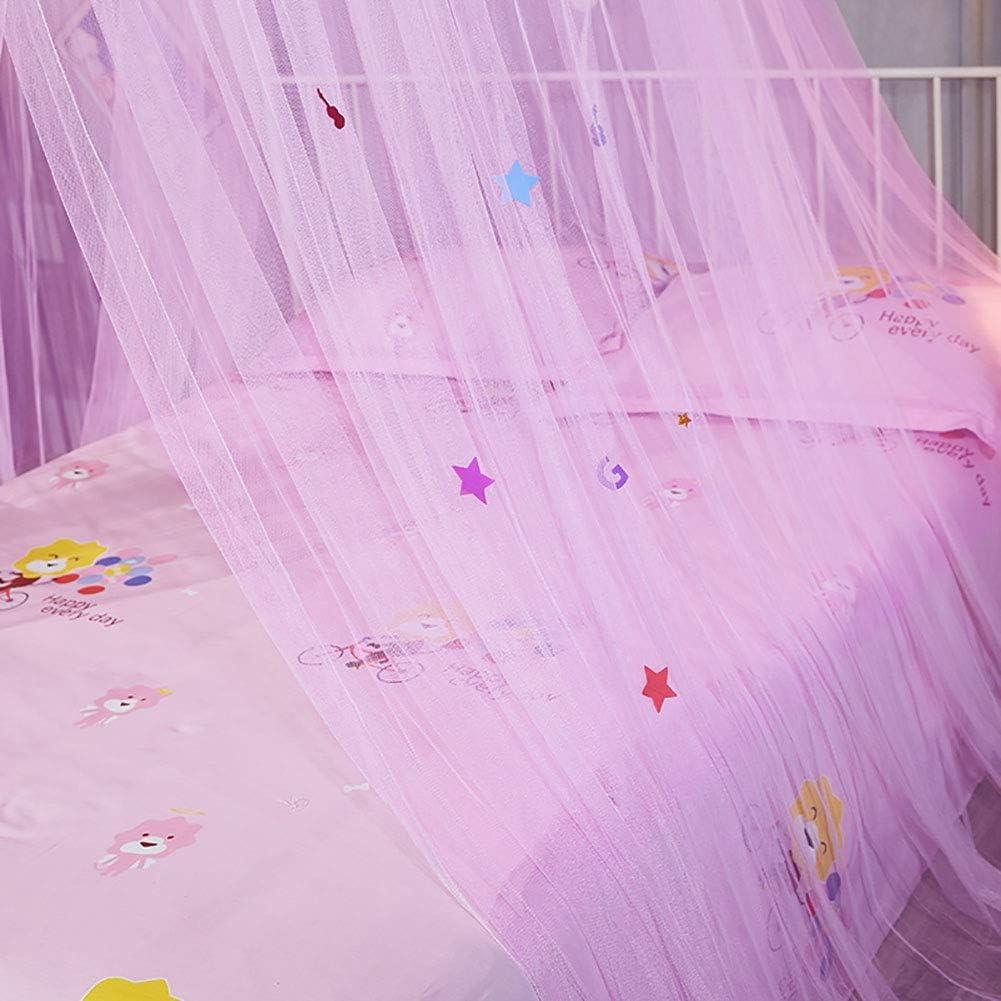 Blanc + Rose Powerlift Moustiquaire Rideau de lit /à baldaquin Rond pour Enfants
