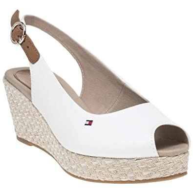 f4e9a489d64447 Image Unavailable. TOMMY HILFIGER Iconic Elba Slingback Womens Sandals White