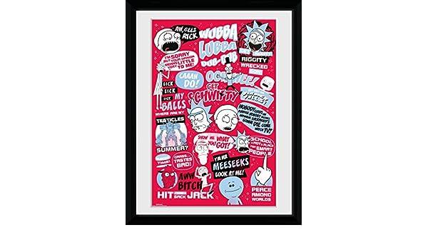 GB eye Ltd Rick y Morty, Quotes, Enmarcado impresión 30 x 40 ...