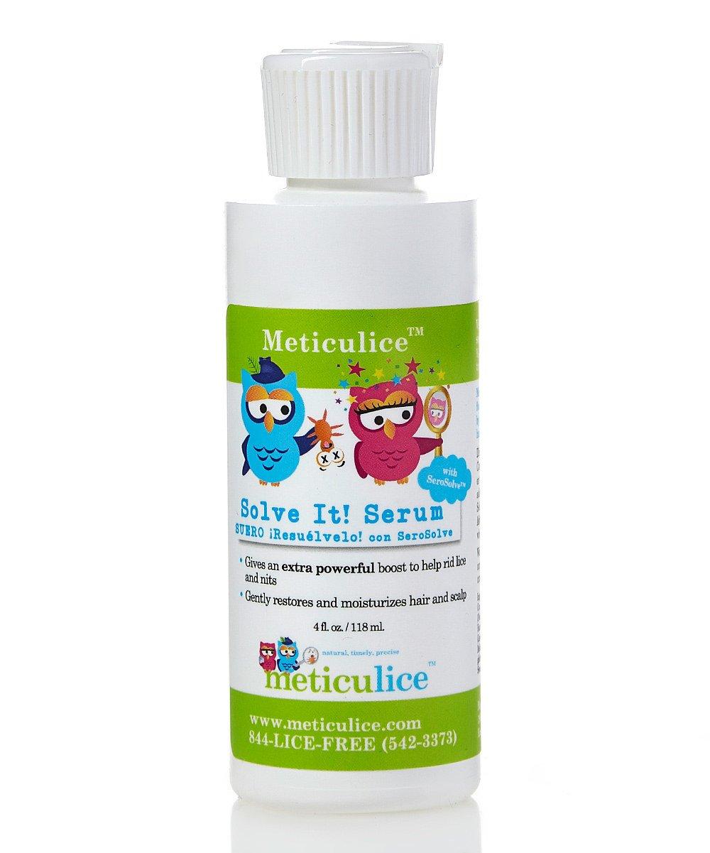 Meticulice Head Lice Professional Removal & Treatment Combing SolveIt! Serum 4oz~ Eliminación y tratamiento de piojos de cabello Combinar SolveIt! Suero 4oz.
