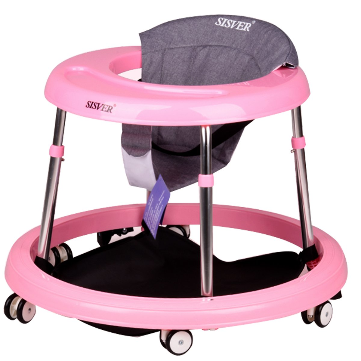 SISVER Baby Walker Baby Walking 6-18 Months Anti-Rollover Height Adjustable Foldable Germany