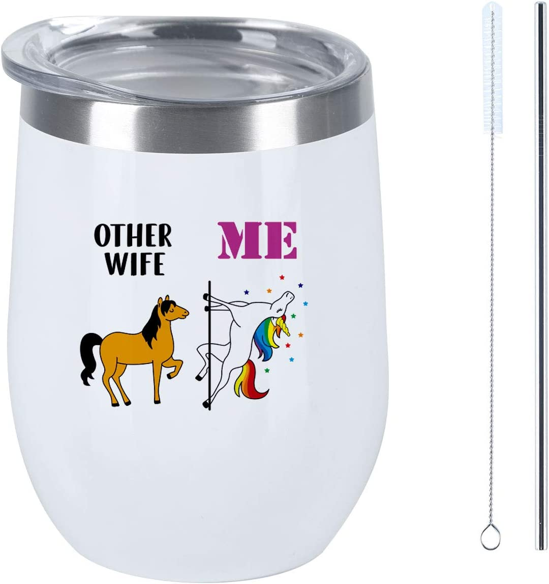 Valentine's Day Gift for Wife Wine Tumbler,Other Wife Me Wine Tumbler, Funny Birthday Gift for Wife Wifey Her Women, 12 Oz Insulated Stainless Steel Wine Tumbler