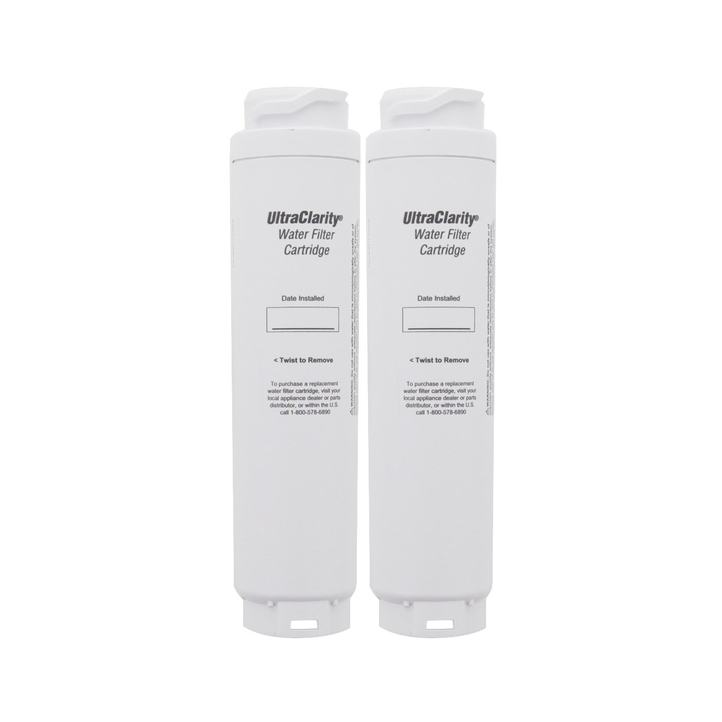 Bosch 9000194412 Ultra Clarity Refrigerator Water Filter, 2-Pack