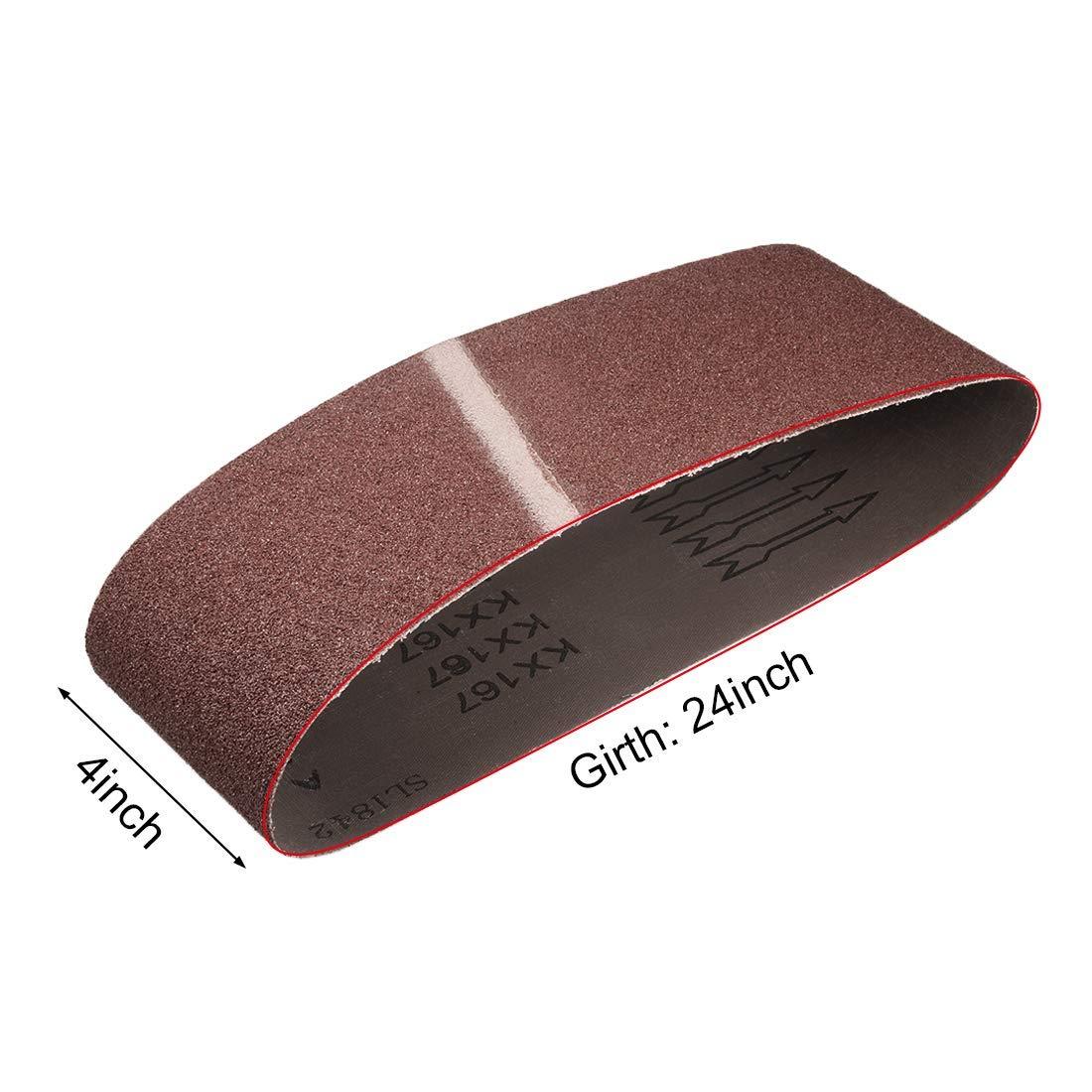 ZCHXD 4 x 24 Abrasive Sanding Belt 60-Grits Aluminum Oxide Sand Belts for Belt Sander 4pcs