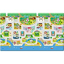 Dwinguler Soft Double Sided Baby Playmat/Kids Play Mat - Big Town - Large