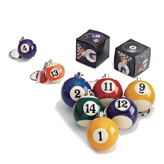 Llavero de bola de billar. Pack de 10 unidades: Amazon.es: Hogar