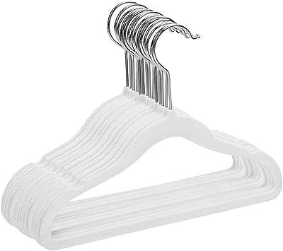 Rosa perchas para ni/ños con material de flocado antideslizante gancho giratorio de 360 grados paquete de 15 perchas para ropa ahorro de espacio ultra delgado Perchas infantiles de terciopelo